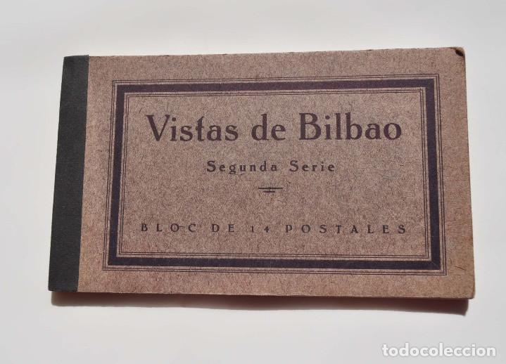 VISTAS DE BILBAO. SEGUNDA SERIE. BLOC DE 14 POSTALES. (FHER, BILBAO) (Postales - España - Pais Vasco Antigua (hasta 1939))