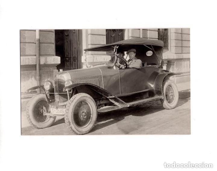 SAN SEBASTIAN.(GUIPÚZCOA).- COCHE ANTIGUO - SARDINERO. POSTAL FOTOGRÁFICA (Postales - España - Pais Vasco Antigua (hasta 1939))