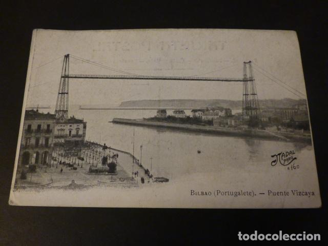 BILBAO PORTUGALETE PUENTE VIZCAYA (Postales - España - Pais Vasco Antigua (hasta 1939))
