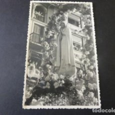 Postales: SAN SEBASTIAN NUESTRA SEÑORA DE FATIMA EN PROCESION FOTOGRAFIA TAMAÑO POSTAL 1947 MARIN FOTOGRAFO. Lote 154692938