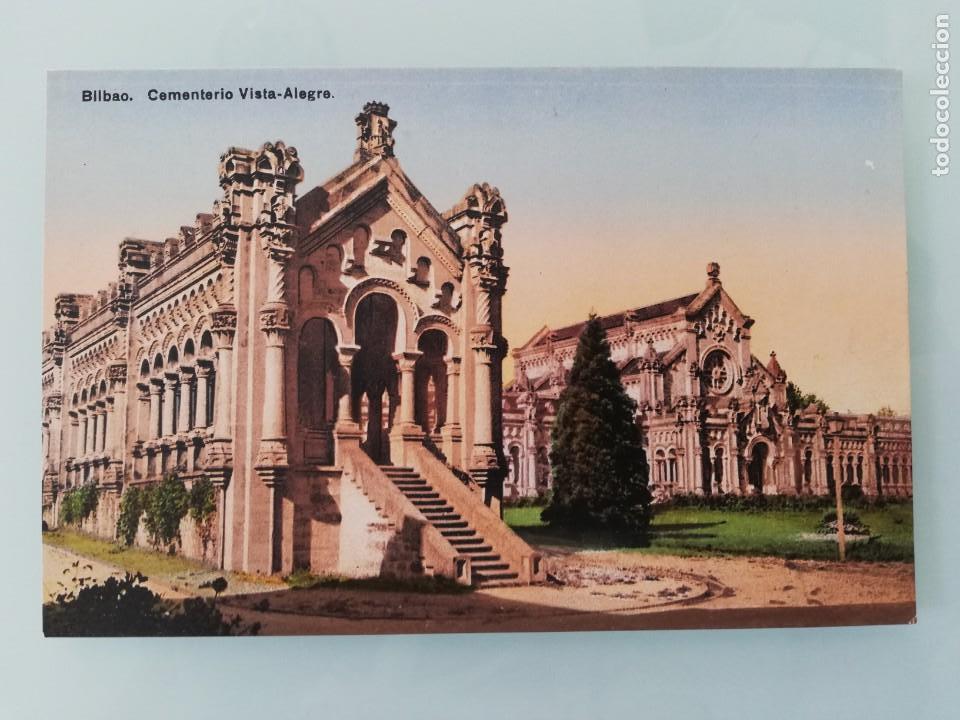 POSTAL DE BILBAO (VIZCAYA), CEMENTERIO DE VISTA ALEGRE, ED.LG. NO CIRCULADA. (Postales - España - País Vasco Moderna (desde 1940))