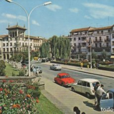 Postales: POSTAL Nº 7830 GUERNICA VIZCAYA ENTRADA A ARTECALLE -COCHE GORDINI - COCHE CUATRO LATAS -COCHE SEAT . Lote 154931470