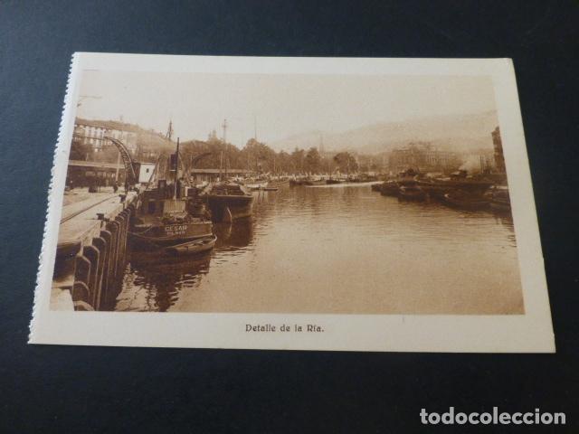 BILBAO DETALLE DE LA RIA (Postales - España - Pais Vasco Antigua (hasta 1939))