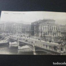 Postales: BILBAO PUENTE DEL ARENAL Y TEATRO. Lote 155500490