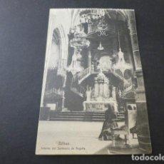 Postales: BILBAO INTERIOR DEL SANTUARIO DE BEGOÑA. Lote 155500962
