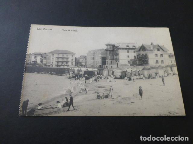 LAS ARENAS BILBAO PLAYA DE BAÑOS (Postales - España - Pais Vasco Antigua (hasta 1939))