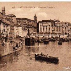 Postales: BONITA POSTAL - SAN SEBASTIAN - PUERTO DE PESCADORES. Lote 155979714