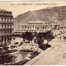 Postales: BONITA POSTAL - SAN SEBASTIAN - JARDINES - PUENTE Y KARSAAL. Lote 155981510