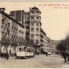 Postales: BONITA POSTAL - SAN SEBASTIAN - PLAZA DE LA ALAMEDA . Lote 155981782