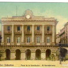 Postales: PRECIOSA POSTAL - SAN SEBASTIAN - PLAZA DE LA CONSTITUCION - AYUNTAMIENTO . Lote 155982242