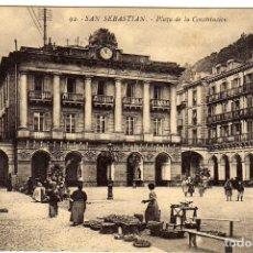 Postales: BONITA POSTAL - SAN SEBASTIAN - PLAZA DE LA CONSTITUCION . Lote 155982442