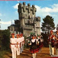 Postales: VIZCAYA - CASTILLO DE BUTRON (FOLKLORE VASCO). Lote 156006590