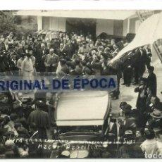 Postales: (PS-59861)POSTAL FOTOGRAFICA DE AZPEITIA-PRIMO DE RIBERA EN EL CAMPAMENTO DE LOS SRES.AZCUE. Lote 156173670