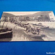 Postales: POSTAL DE SANTURCE (VIZCAYA): EL PUERTO (ED.MARCIAL POLO) (ANIMADA). Lote 156645662