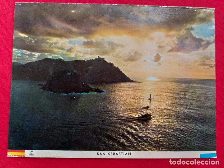 POSTAL DE SAN SEBASTIAN, PUESTA DE SOL. MANIPEL 109 FOURNIER. SIN CIRCULAR (Postales - España - País Vasco Moderna (desde 1940))