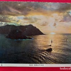 Postales: POSTAL DE SAN SEBASTIAN, PUESTA DE SOL. MANIPEL 109 FOURNIER. SIN CIRCULAR. Lote 156679206