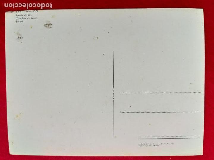 Postales: POSTAL DE SAN SEBASTIAN, PUESTA DE SOL. MANIPEL 109 FOURNIER. SIN CIRCULAR - Foto 2 - 156679206