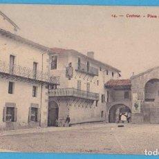 Postales: 14.- CESTONA.- PLAZA DE LOS JUEROS. EDIT J. Mª QUEREJETA. UNIÓN UNIVERSAL DE CORREOS. Lote 156828558