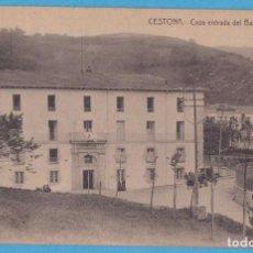 Postales: CESTONA.- CASA ENTRADA DEL BALNEARIO. A. SANTOS GRABADOR, EIBAR. Lote 156831270