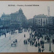 Postales: POSTAL BILBAO PUENTE ARENAL Y SOCIEDAD BILBAINA EDIC L.G. VIZCAYA PAIS VASCO PERFECTA CONSERVACION. Lote 156842142