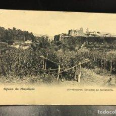 Postales: POSTAL AGUAS DE MONDARIZ PONTEVEDRA - ALREDEDORES ESTACIÓN DE SALVATIERRA SIN DIVIDIR NI CIRCULADA. Lote 156919434