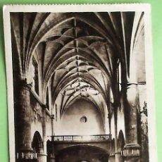 Postales: SAN SEBASTIÁN. MUSEO MUNICIPAL DE SAN TELMO. VISTA DE LA NAVE DESDE EL ÁBSIDE. HAUSER Y MENET. NUEVA. Lote 157172448