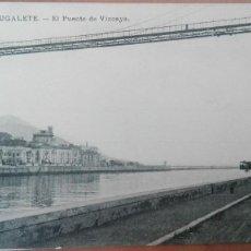 Postales: POSTAL PORTUGALETE PUENTE VIZCAYA LAS ARENAS EDIC E.J.G VIZCAYA BILBAO SIN DIVIDIR PERFECTA CONSERVA. Lote 157948198