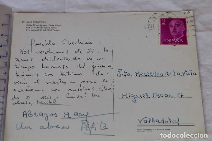 Postales: 27 SAN SEBASTIAN C/ 31 DE AGOSTO(PARTE VIEJA) MANIPEL H. FOURNIER CITROEN 2 CV CIRILA RENAULT 10 - Foto 2 - 158813782