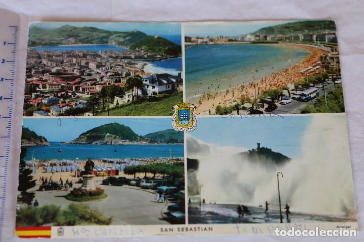 SAN SEBASTIAN MANIPEL H. FOURNIER CIRCULADA 1966 (Postales - España - País Vasco Moderna (desde 1940))