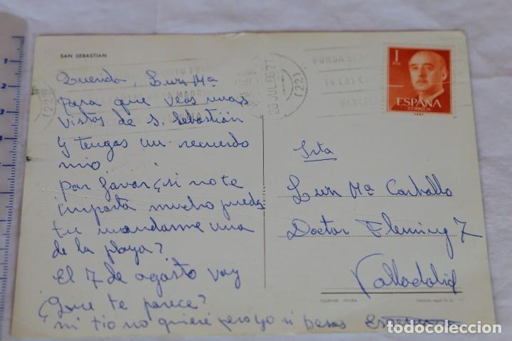 Postales: SAN SEBASTIAN MANIPEL H. FOURNIER CIRCULADA 1966 - Foto 2 - 158814306