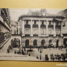 Postales: POSTAL - SAN SEBASTIAN - 21 CASA CONSISTORIAL - MAYOR HERMANOS - ESCRITA EN 1914. Lote 159305706