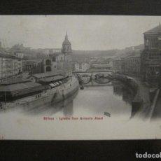 Postcards - BILBAO-IGLESIA SAN ANTONIO ABAD-P.Z.-REVERSO SIN DIVIDIR-POSTAL ANTIGUA-(58.622) - 159686754
