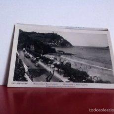 Postales: SAN SEBASTIÁN ( MIRACONCHA Y MONTE IGUELDO) USADA. 1958. Lote 160493896