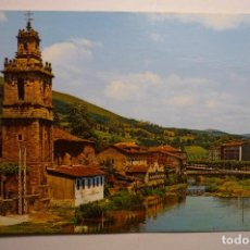 Postales: POSTAL VALMSEDA IGLESIA S.JUAN Y RIO CADAGUA. Lote 160628606