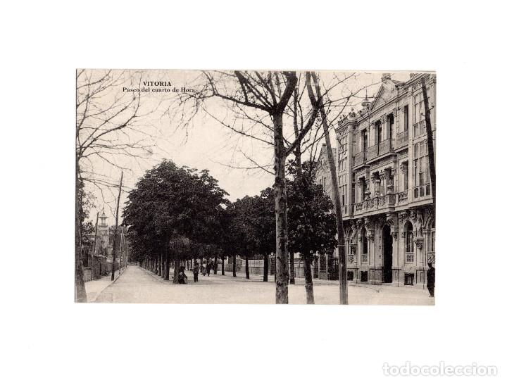 VITORIA.(ÁLAVA).- PASEO DEL CUARTO DE HORA. (Postales - España - Pais Vasco Antigua (hasta 1939))