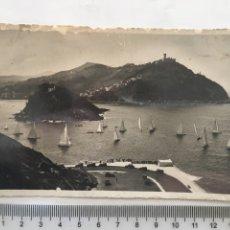 Postales: POSTAL. SAN SEBASTIÁN. VISTA DESDE EL MONTE URGULL. FOTO GALARZA. H. 1940?.. Lote 161334754