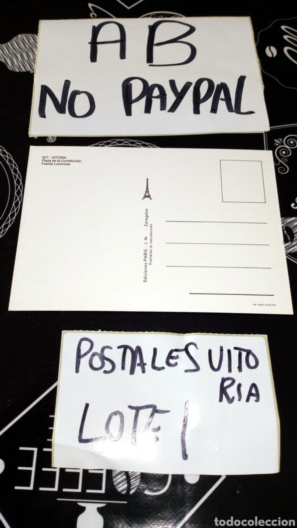 Postales: Postal no circulada Vitoria gasteiz plaza parque de la constitución ediciones paris - Foto 2 - 161858062