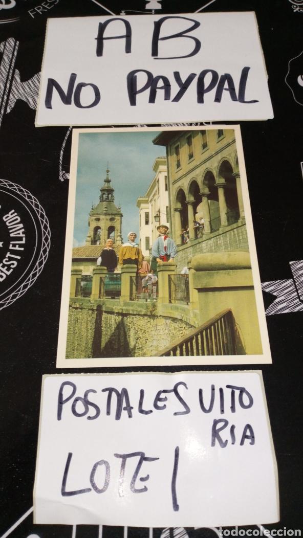 POSTAL NO CIRCULADA VITORIA GASTEIZ GIGANTES CUESTA SAN VICENTE TRADICIONES VICTORIANAS INEDITA TC (Postales - España - País Vasco Moderna (desde 1940))