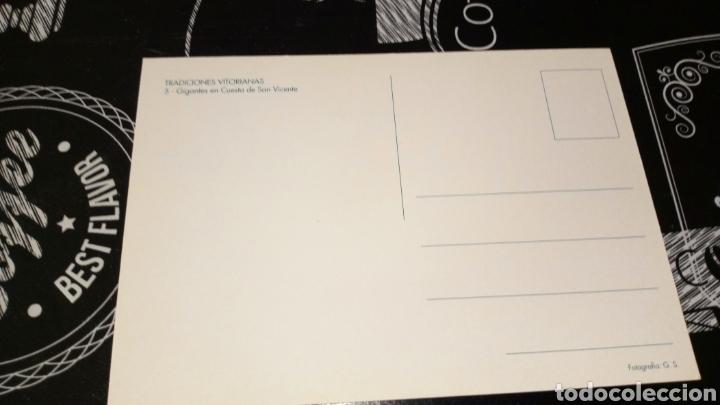 Postales: Postal no circulada Vitoria gasteiz gigantes cuesta San Vicente tradiciones victorianas inedita tc - Foto 3 - 161858429