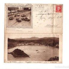 Postales: SAN SEBASTIÁN.(GUIPÚZCOA).- CARRERAS DE AUTOMÓBILES. VISTA GENERAL.. Lote 162764338