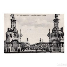 Postales: SAN SEBASTIÁN.(GUIPÚZCOA).- EL PUENTE DE MARÍA CRISTINA.. Lote 162767878