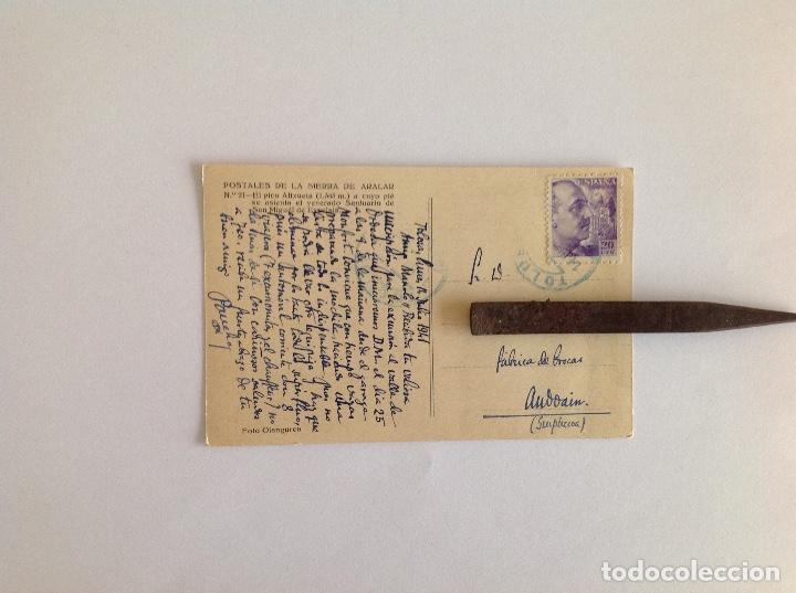 Postales: Postal Sierra Aralar. Pico altxueta.. Foto Ojanguren. Circulada. 1941 - Foto 2 - 162913962