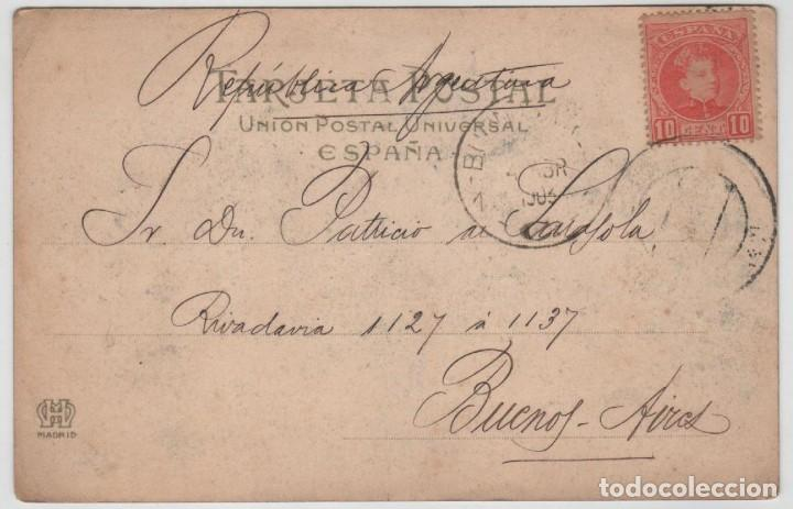 Postales: Postal Bilbao Iglesia S Anton desde Miravilla Circulada 1903 Landaburu Herm Hauser Menet número 531 - Foto 2 - 162920350