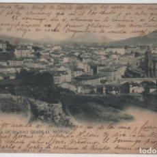 Postales: POSTAL BILBAO PANORAMA DESDE EL MORRO CIRCULADA 1903 LANDABURU HERM HAUSER MENET NÚMERO 612. Lote 162920442