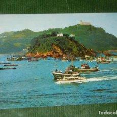 Postales: SAN SEBASTIAN Nº 65 REGATA DE TRAINERAS. EDICIONES MANIPEL.1967 - CIRCULADA. Lote 163610474