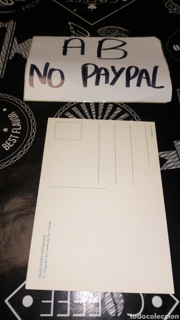 Postales: Postal Vitoria no circulada tradiciones vitorianas gigantes en la cuesta de San Vicente - Foto 2 - 163611958