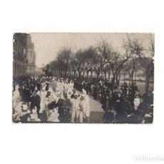 Postales: SAN SEBASTIÁN.(GUIPÚZCOA).- CARNAVAL DE 1908. POSTAL FOTOGRÁFICA.. Lote 163793382