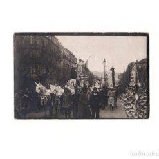Postales: SAN SEBASTIÁN.(GUIPÚZCOA).- CARNAVAL DE 1908. POSTAL FOTOGRÁFICA.. Lote 163793474