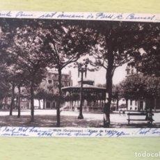Postales: POSTAL DE IRUN (GUIPUZCOA): PLAZA DE ESPAÑA, KIOSKO J GARCIA. Lote 163935846