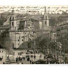 Postales: BILBAO PASEO DEL ARENAL ED. L.G. REVERSO SIN DIVIDIR. CIRCULADA. Lote 163966250